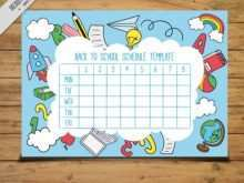 58 How To Create Back To School Schedule Template with Back To School Schedule Template