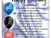 58 How To Create Birthday Card Template For Grandson Formating for Birthday Card Template For Grandson