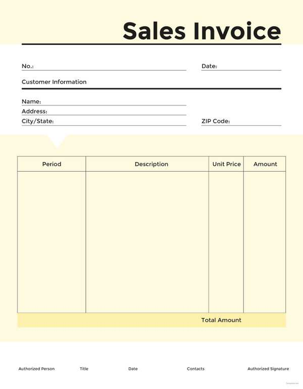 58 How To Create Blank Sales Invoice Template Download by Blank Sales Invoice Template