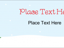 Holiday Tent Card Template
