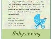 58 Report Babysitting Flyer Free Template Layouts by Babysitting Flyer Free Template