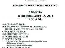 58 Report Board Meeting Agenda Template South Africa Layouts for Board Meeting Agenda Template South Africa