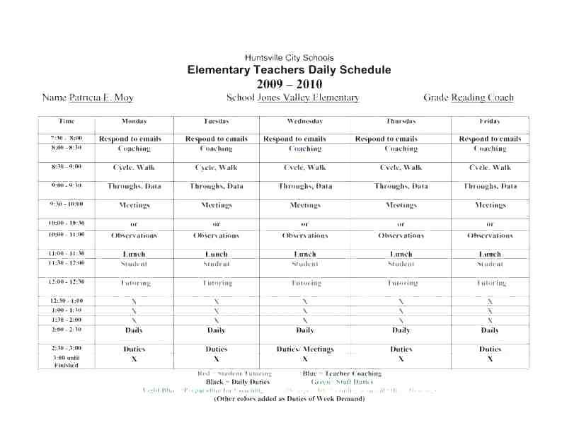 58 The Best Class Schedule Template Powerpoint for Class Schedule Template Powerpoint