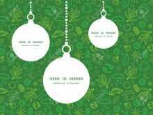58 Visiting Christmas Ornament Card Template Now by Christmas Ornament Card Template