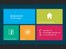 Business Card Template Html
