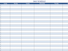 59 Blank Class Schedule Grid Template in Word with Class Schedule Grid Template