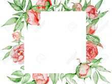 59 Blank Flower Card Templates Free Templates for Flower Card Templates Free