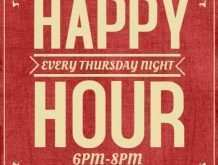 59 Creating Happy Hour Flyer Template Free Formating for Happy Hour Flyer Template Free