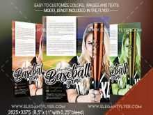 59 Creative Baseball Flyer Template Free PSD File for Baseball Flyer Template Free