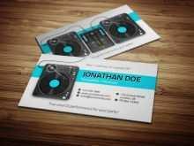 59 Customize Business Card Templates Dj Free Download by Business Card Templates Dj Free