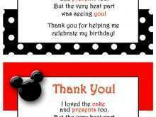 59 Customize Mickey Thank You Card Template Maker by Mickey Thank You Card Template