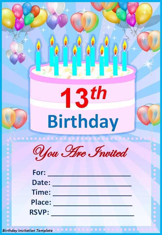 59 Customize Our Free Birthday Card Invitation Templates For Word For Free by Birthday Card Invitation Templates For Word