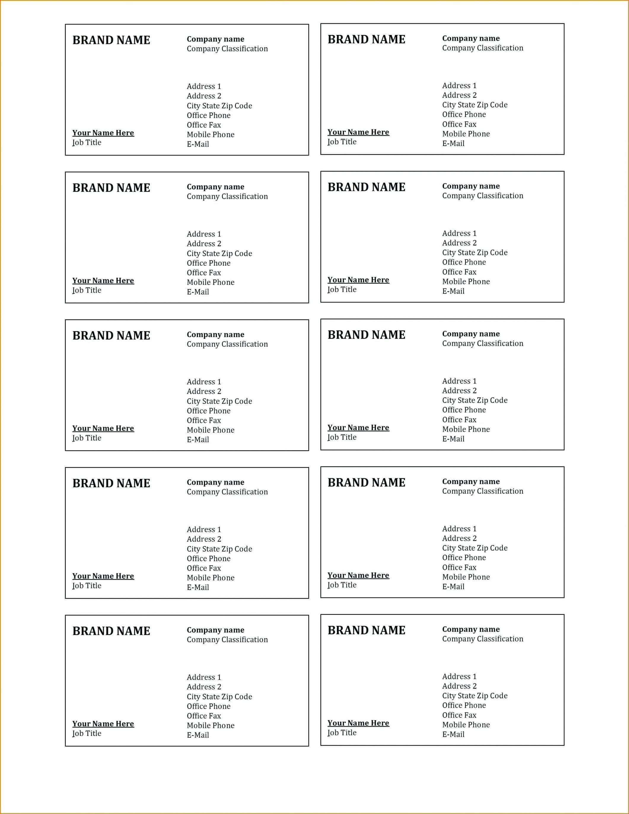 59 Free Business Card Template 8373 Layouts by Business Card Template 8373
