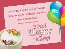 59 How To Create Belated Birthday Card Template PSD File for Belated Birthday Card Template