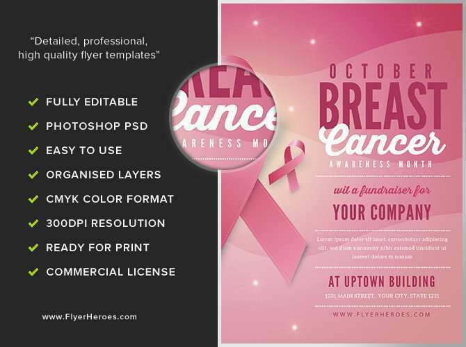 59 How To Create Breast Cancer Awareness Flyer Template Free for Ms Word with Breast Cancer Awareness Flyer Template Free