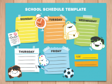 59 Printable Back To School Schedule Template for Ms Word by Back To School Schedule Template