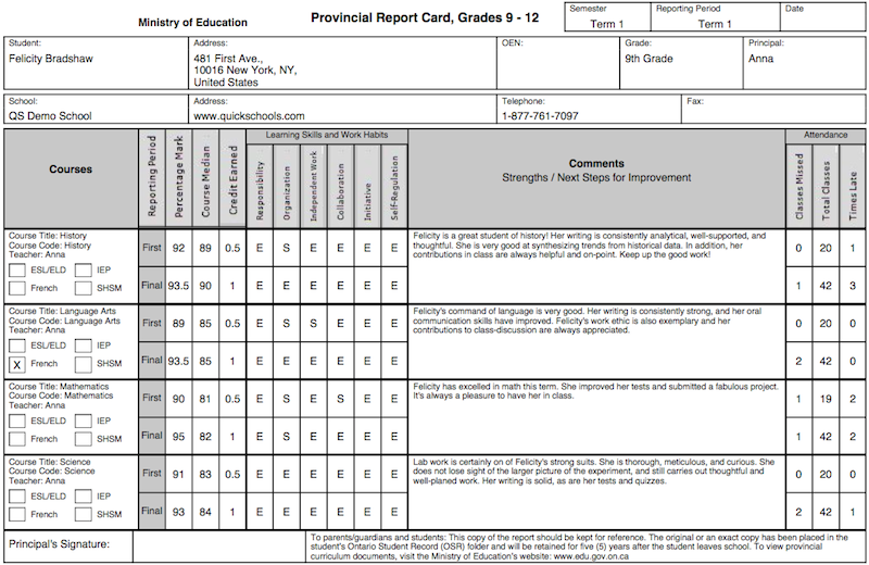 59 Standard A Report Card Template Download with A Report Card Template