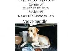 59 Standard Lost Pet Flyer Template Free Download for Lost Pet Flyer Template Free