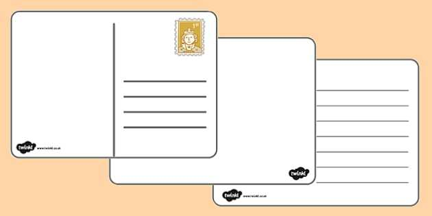 59 Visiting A Blank Postcard Template Templates for A Blank Postcard Template