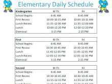 60 Best Class Schedule Template For Elementary For Free with Class Schedule Template For Elementary