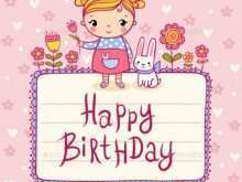 60 Birthday Card Template Printable Girl Formating for Birthday Card Template Printable Girl