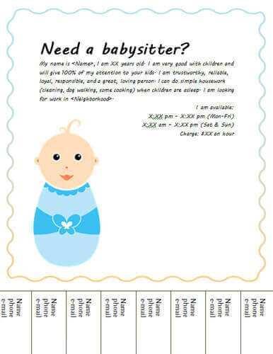60 Create Babysitting Flyer Free Template Maker with Babysitting Flyer Free Template