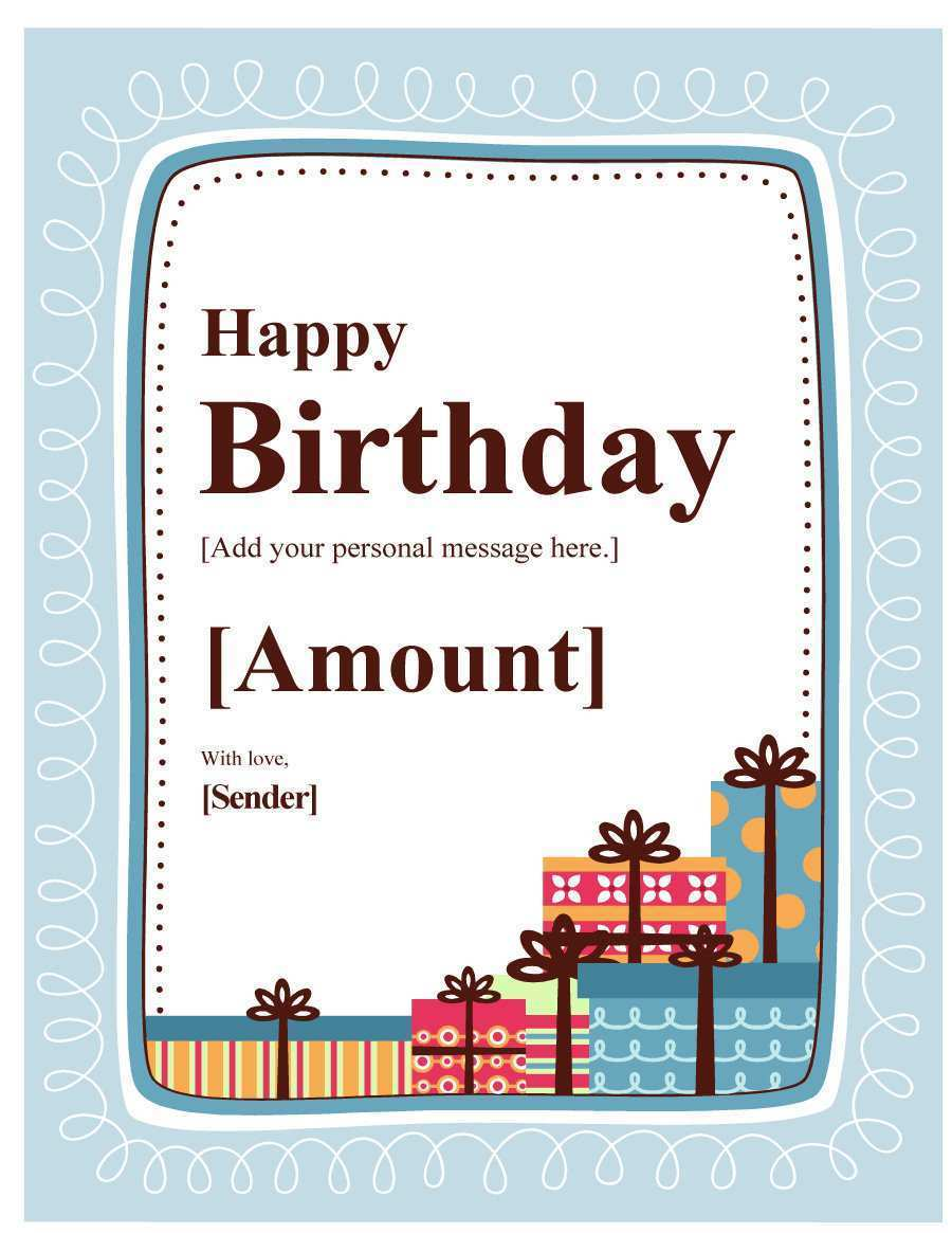 60 Customize 18Th Birthday Card Template Free for Ms Word for 18Th Birthday Card Template Free