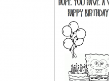 60 Customize Birthday Card Template To Color For Free with Birthday Card Template To Color
