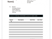 Blank Invoice Template To Edit