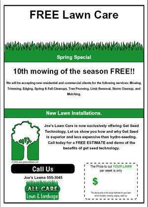 60 Customize Free Lawn Mowing Flyer Template For Free for Free Lawn Mowing Flyer Template