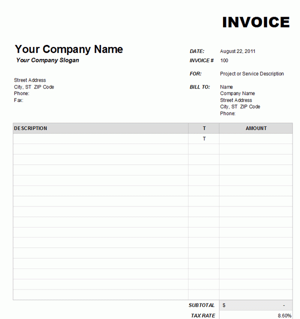 Word Invoice Template Free Download from legaldbol.com