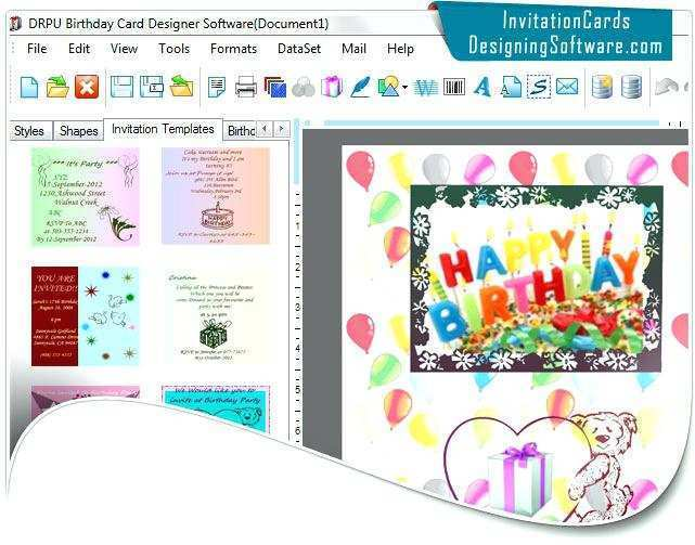 60 Format Birthday Invitation Card Maker Software Free Formating by Birthday Invitation Card Maker Software Free