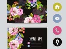 60 Free Flower Business Card Template Free With Stunning Design by Flower Business Card Template Free