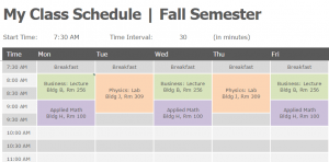 60 Free Printable Best Class Schedule Template Download by Best Class Schedule Template