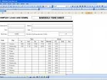 60 Free Printable Biweekly Time Card Template Excel in Word for Biweekly Time Card Template Excel