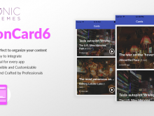 Ionic 3 Card Template