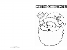 60 Online Christmas Card Template Black And White Templates with Christmas Card Template Black And White