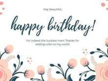 60 Printable B Day Card Template for Ms Word by B Day Card Template