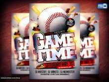 60 Printable Baseball Flyer Template Free in Photoshop with Baseball Flyer Template Free