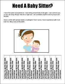 60 Report Babysitting Flyer Templates Free For Free with Babysitting Flyer Templates Free