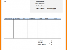 Invoice Template Vat Number