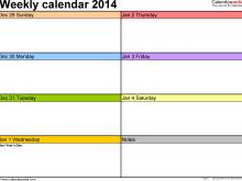 60 Standard Blank Weekly Class Schedule Template for Blank Weekly Class Schedule Template