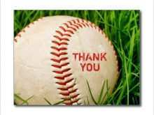 Thank You Card Soccer Coach Templates