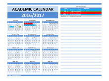 School Term Planner Template 2018