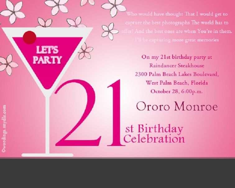 Remarkable 21St Birthday Card Invitation Templates Cards Design Templates Funny Birthday Cards Online Fluifree Goldxyz