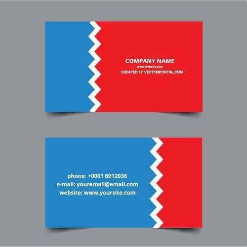 61 Customize Business Card Template Red Blue Download for Business Card Template Red Blue