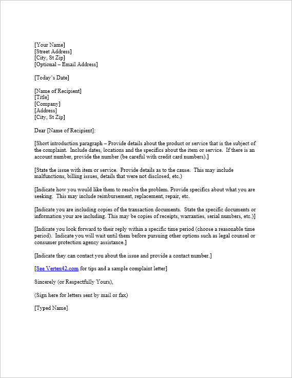 Incorrect Invoice Email Template