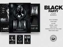 61 Format All Black Everything Party Flyer Template For Free with All Black Everything Party Flyer Template