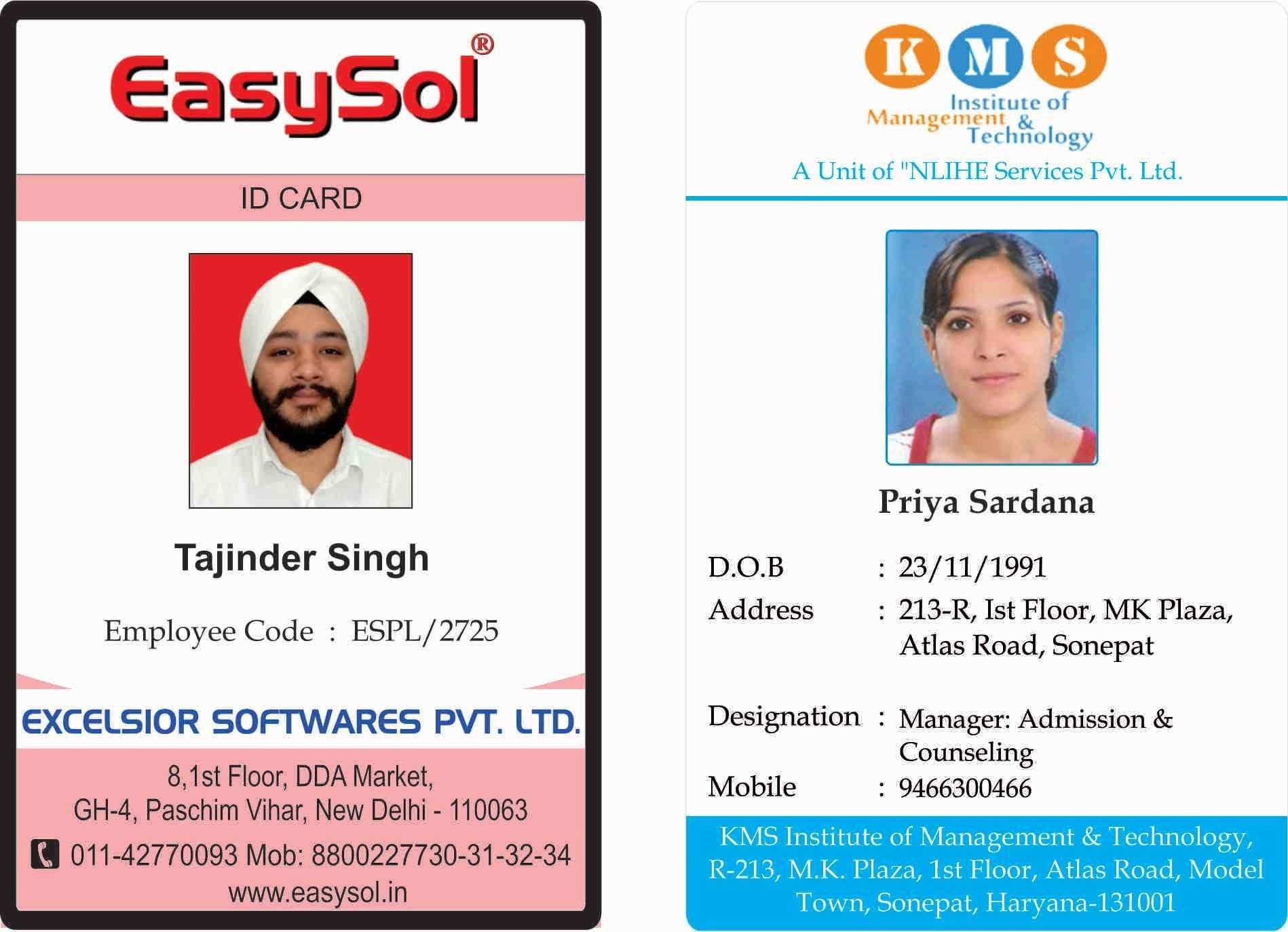 Employee Id Card Template Microsoft Word For Your Needs