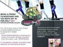 61 Format Fitness Boot Camp Flyer Template in Photoshop with Fitness Boot Camp Flyer Template